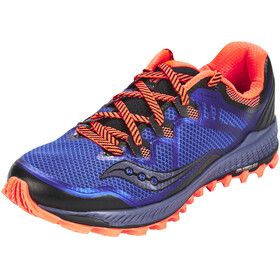saucony Peregrine 8 Shoes Men Blue/Black/ViziRed